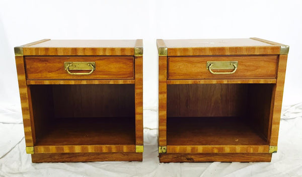 Pair Vintage Drexel Side Tables