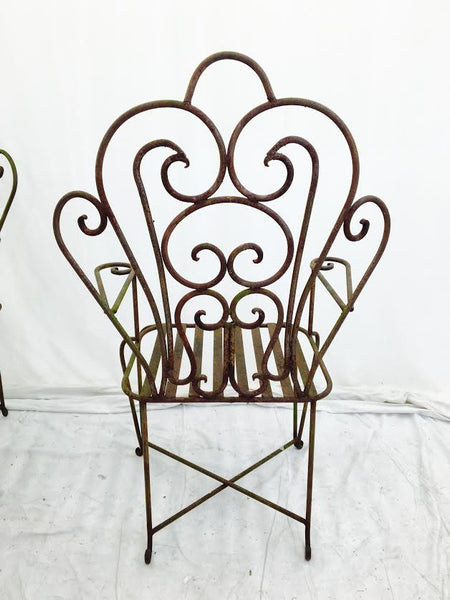 Heavy Wrought Iron Garden Chairs