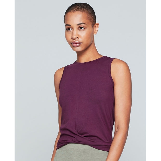 Moonchild Yoga Wear Draped Tank Loungewear Fig