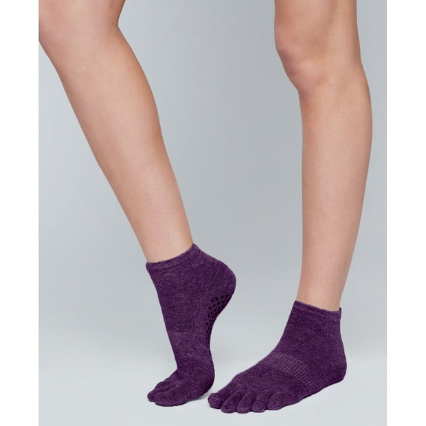 Moonchild Yoga Wear Moonchild Grip Socks - High Socks Blackberry