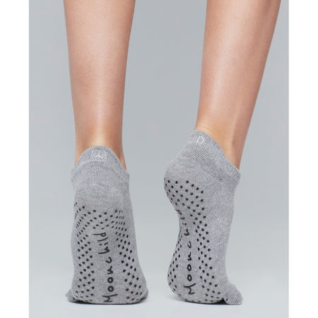 Moonchild Yoga Wear Moonchild Grip Socks - Low Rise Socks Heather Grey