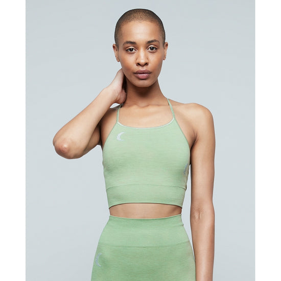 Moonchild Yoga Wear Solstice Midi Top Seamless Tops Palm Leaf