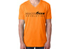 Men's CrawlTek Revolution V-Neck Tee - Orange - CrawlTek Revolution