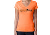 Women's CrawlTek Revolution V-neck Tee - Orange/Gray (2016) - CrawlTek Revolution