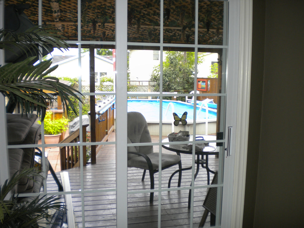 PATIO DOOR WITH GRILLS