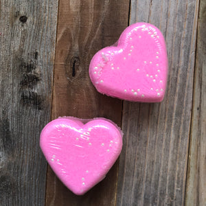 Heart Bath Bomb -Pink Sugar