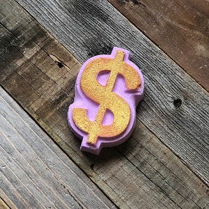 Foaming Dollar Sign Bath Bomb - Lavender Honey