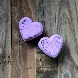 Heart Bath Bomb - Black Raspberry Vanilla