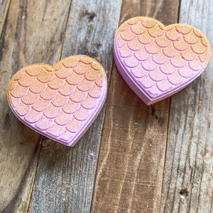 Bath Bomb - Lavender Honey Mermaid Heart