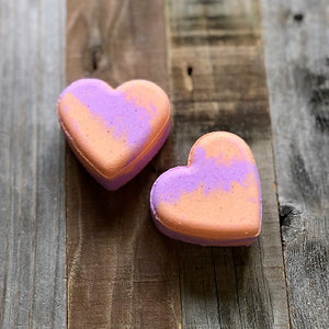 Heart Bath Bomb - Lavender Peach
