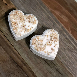 Heart Bath Bomb - Oatmeal & Honey
