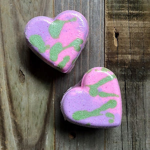 Heart Bath Bomb - Unicorn Glitter