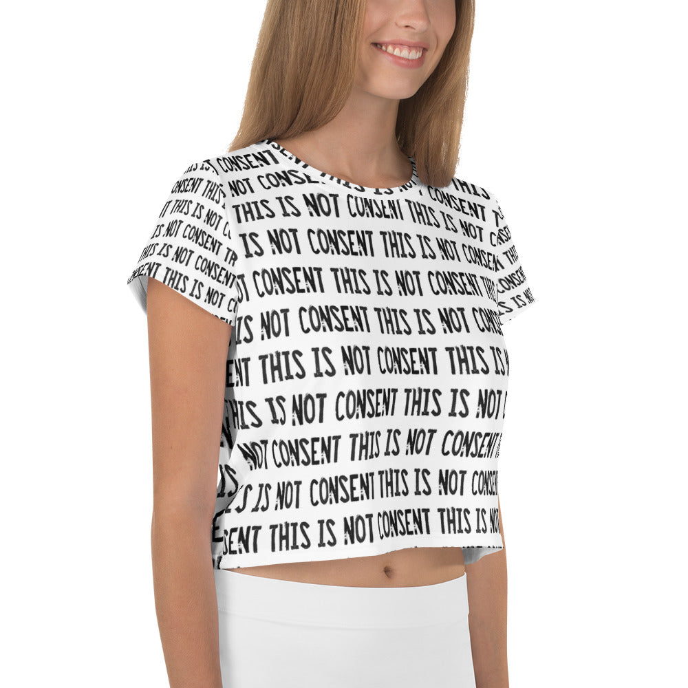 All-Over Print Crop Tee (B/W)
