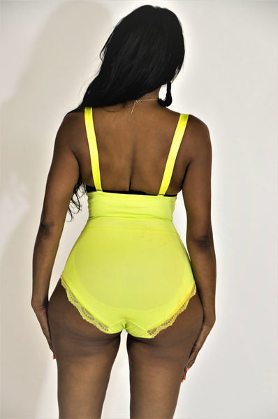 The Natty High-Waisted Lower Tummy Control Full Bottom Panties (Lime)