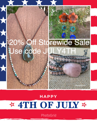 Sale ends July 5th 11:59pm. Enter code JULY4TH at checkout