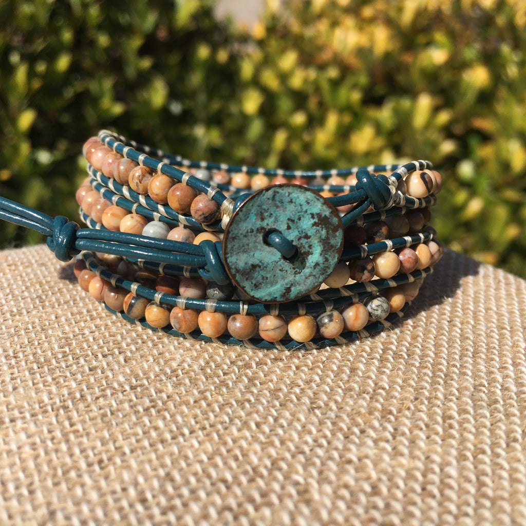 4-Wrap Bracelet - Venus Jasper version 2