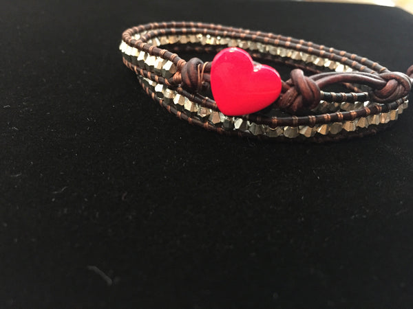 2-wrap Bracelet-Silver Plated Brass