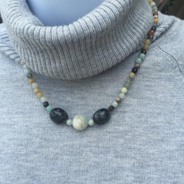 Black Amazonite Necklace #2
