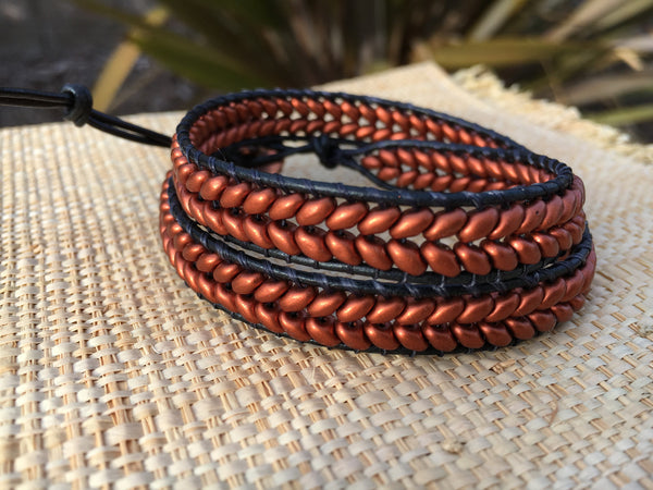 2-Wrap Bracelet - Copper Super Duo - Fall Pick