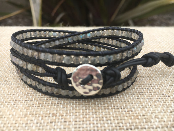 3-Wrap Bracelet - 3mm Labradorite - Fall Pick