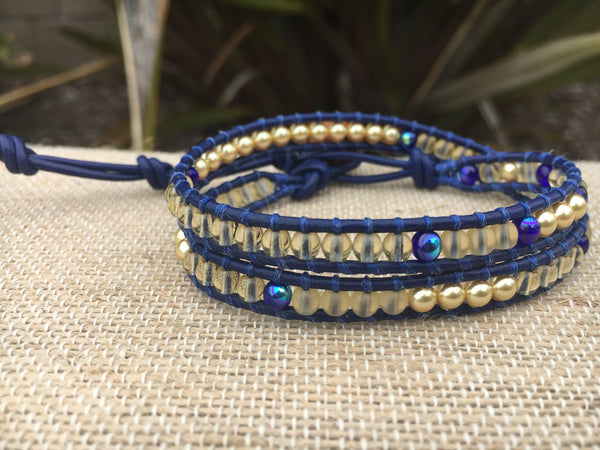 2-Wrap - Warriors Bracelet #3