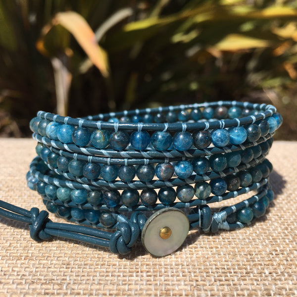 4-Wrap Bracelet - Apatite - Fall pick