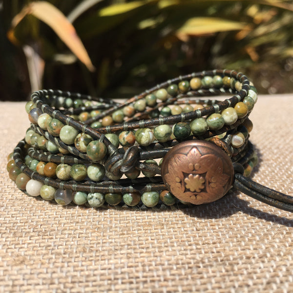 4-Wrap Bracelet - Rhyolite - Fall Pick