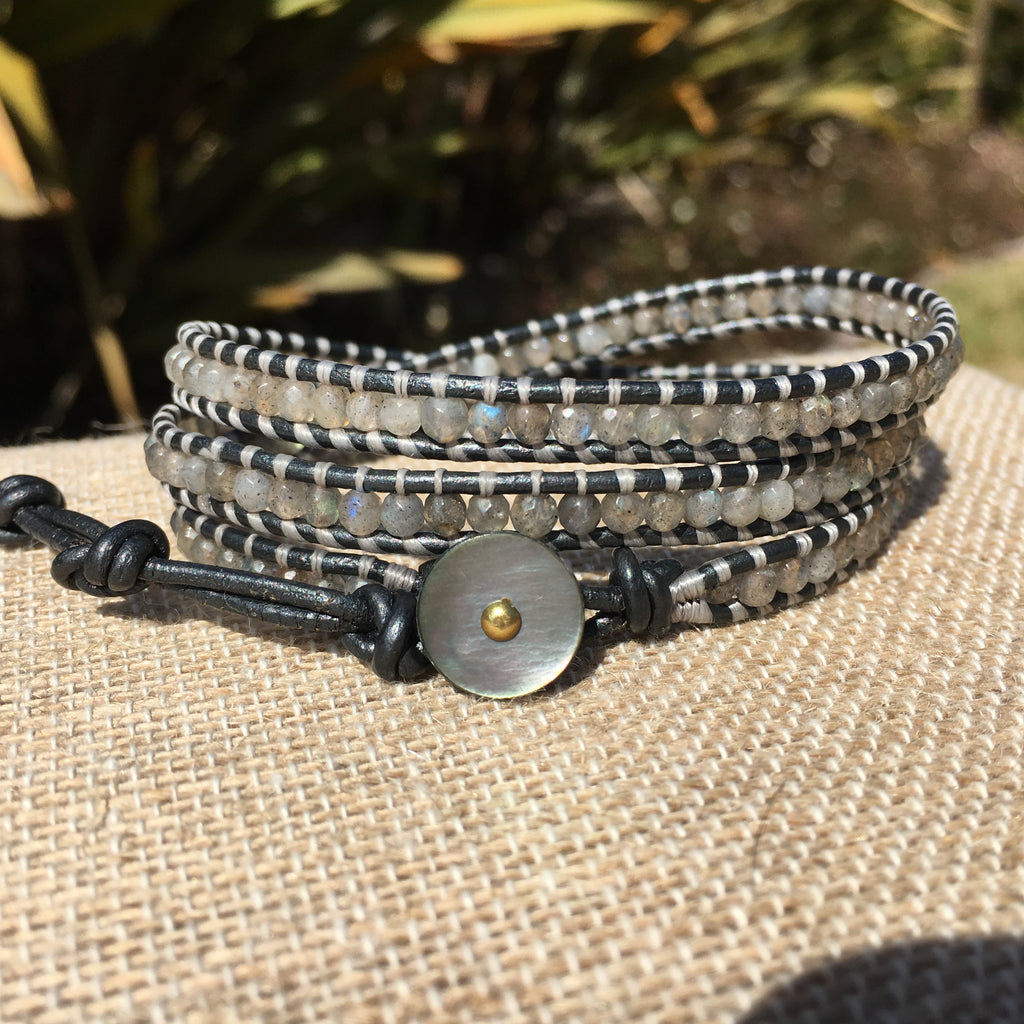 3-Wrap Bracelet - 3mm Labradorite #2 - Fall Pick