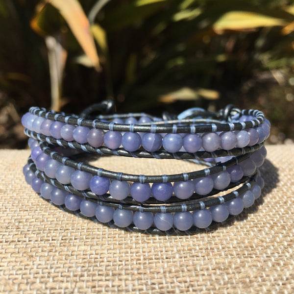 3-Wrap Bracelet - Synthetic Iolite
