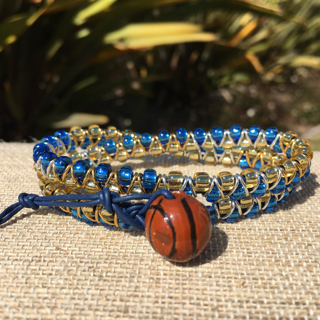 2-wrap  Bracelet - Jump Ring Seed Bead Warriors Tribute #2