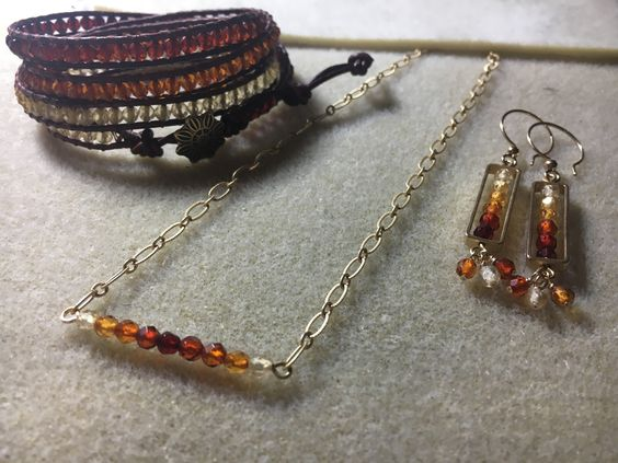 Ombre Amber Earrings - Fall Pick