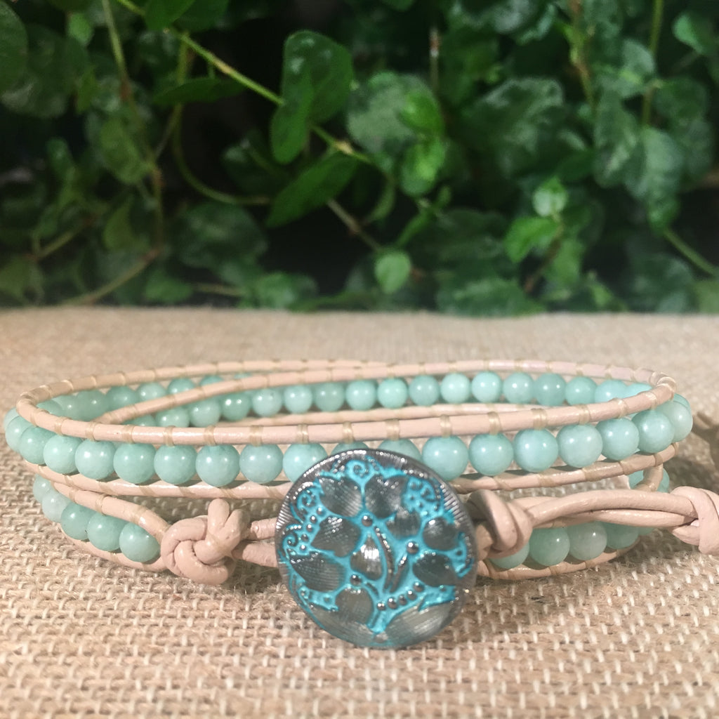 2-Wrap Bracelet - Amazonite version 3