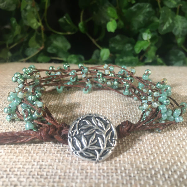 Bird's Nest Bracelet - Pastel Greens