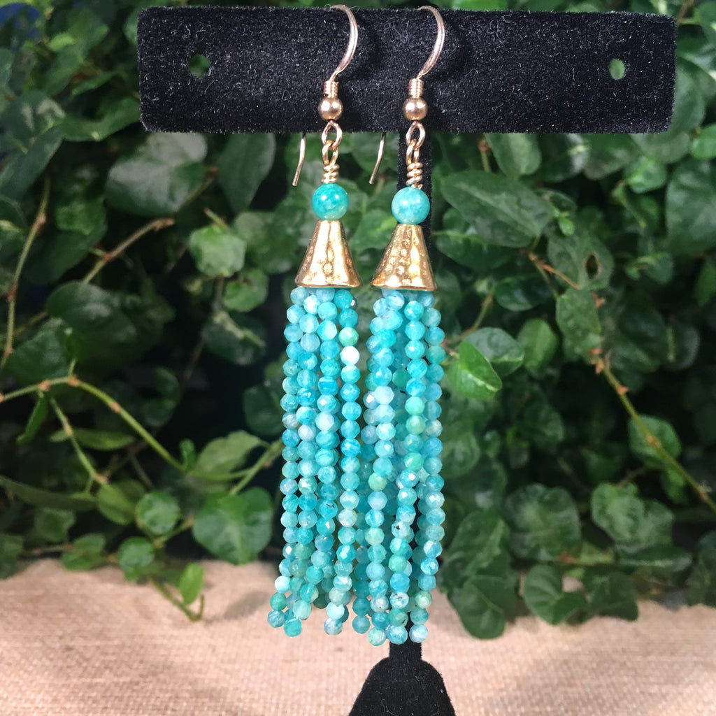 Tassel Earrings - Russian Amazonite