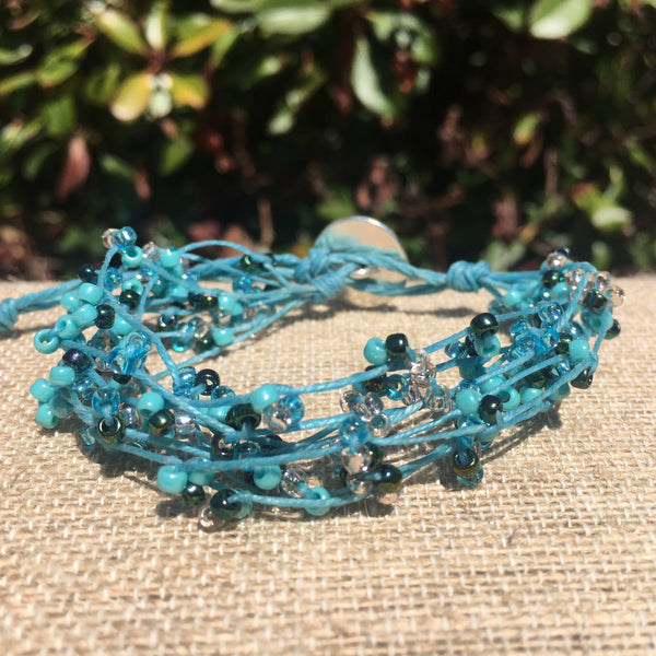 Bird's Nest Bracelet - Shades of Ocean