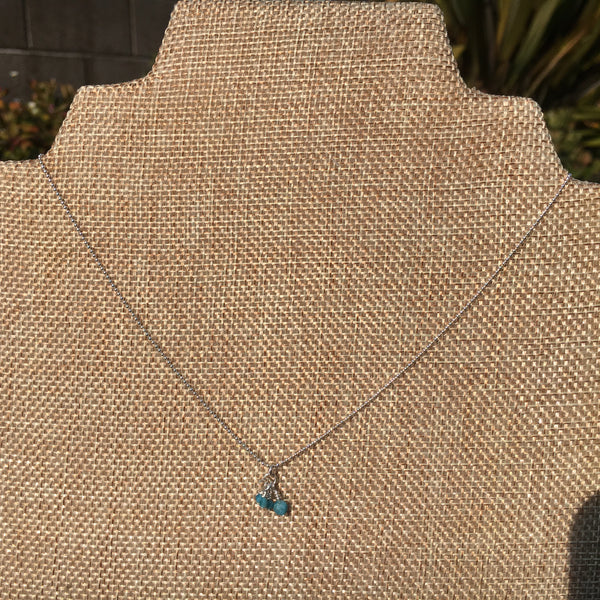 "18"" Sterling Silver Necklace with Apatite"