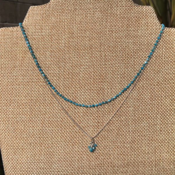 2mm Apatite Knotted Necklace