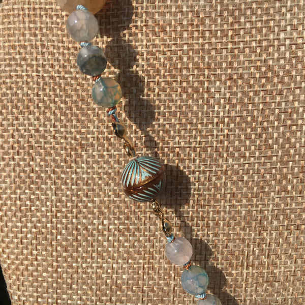 Knotted Water Agate Necklace #2
