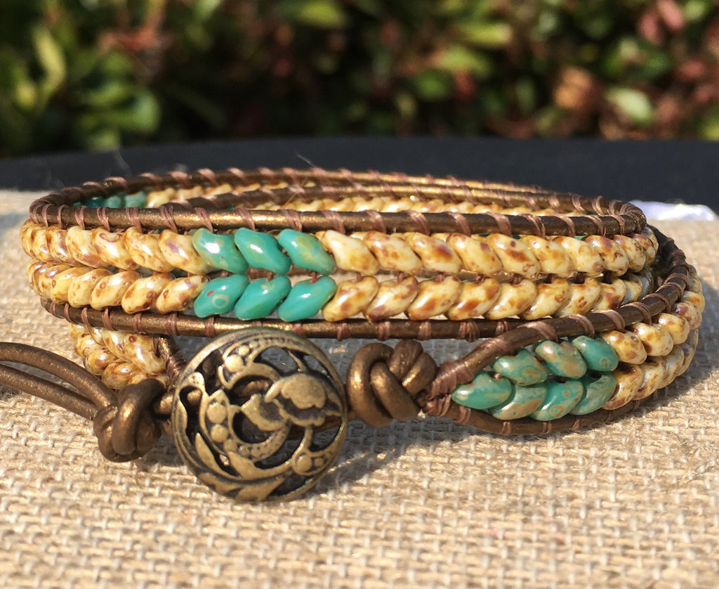 2-Wrap Bracelet - Natural Picasso Superdo