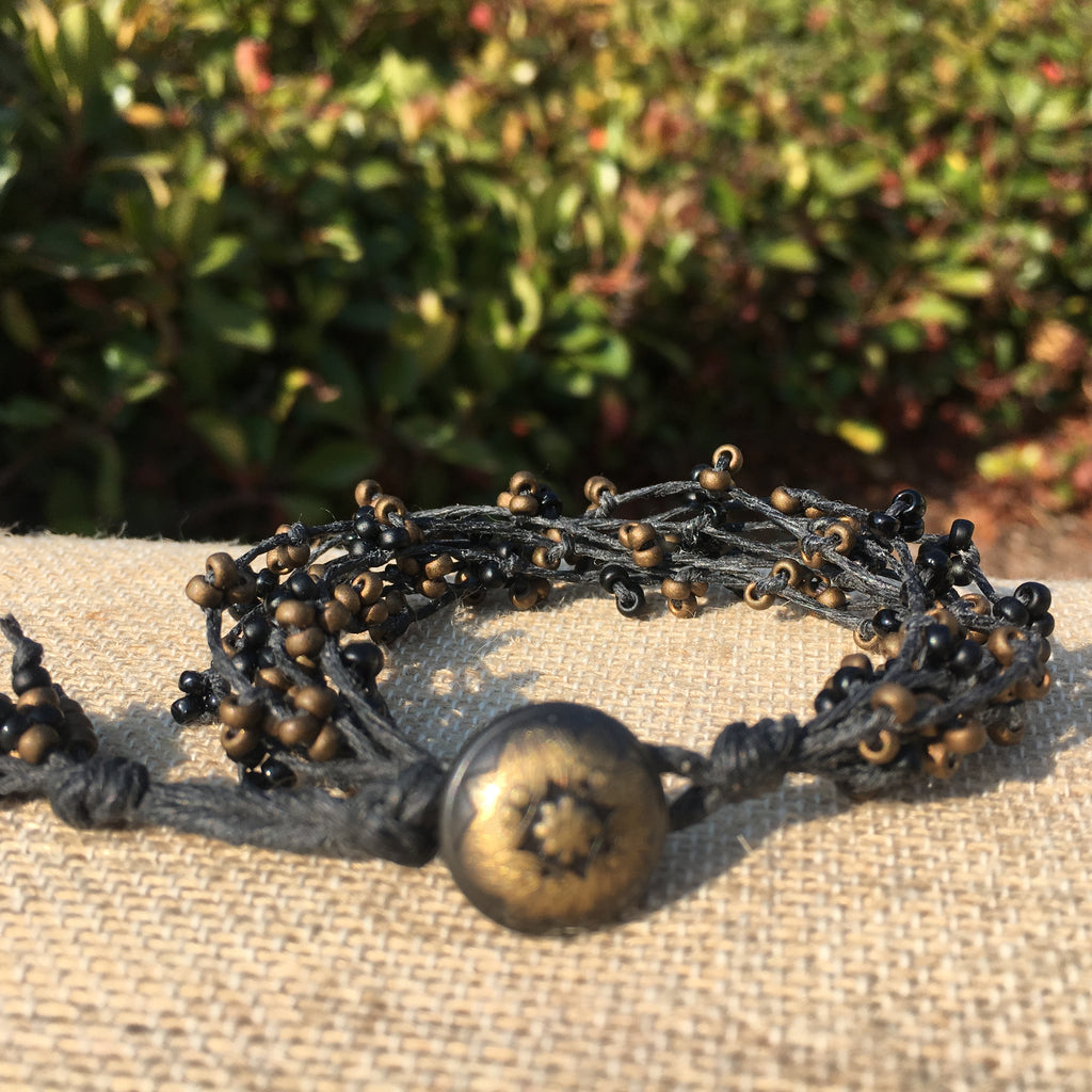 Bird's Nest Bracelet - Black and Bronze