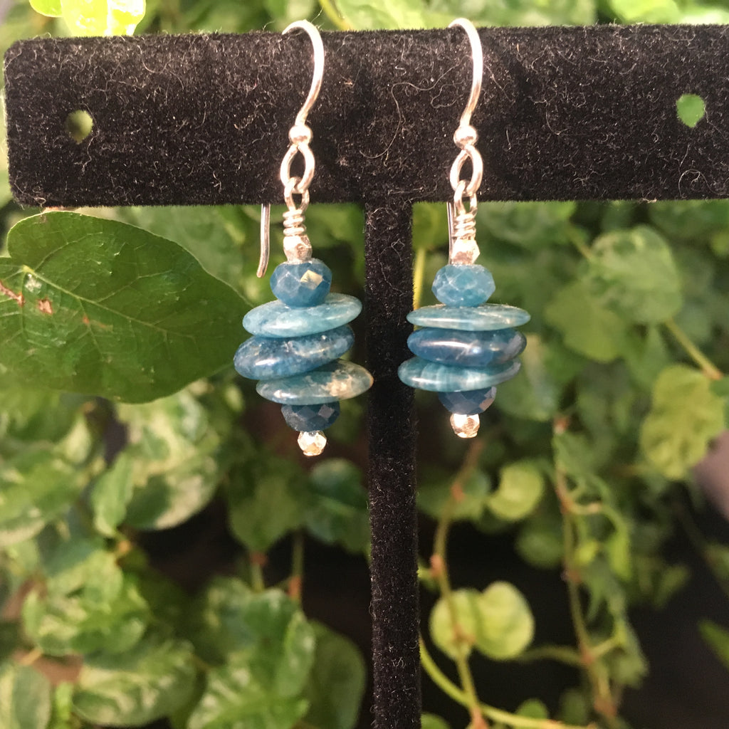 Stacked Apatite Earrings #2