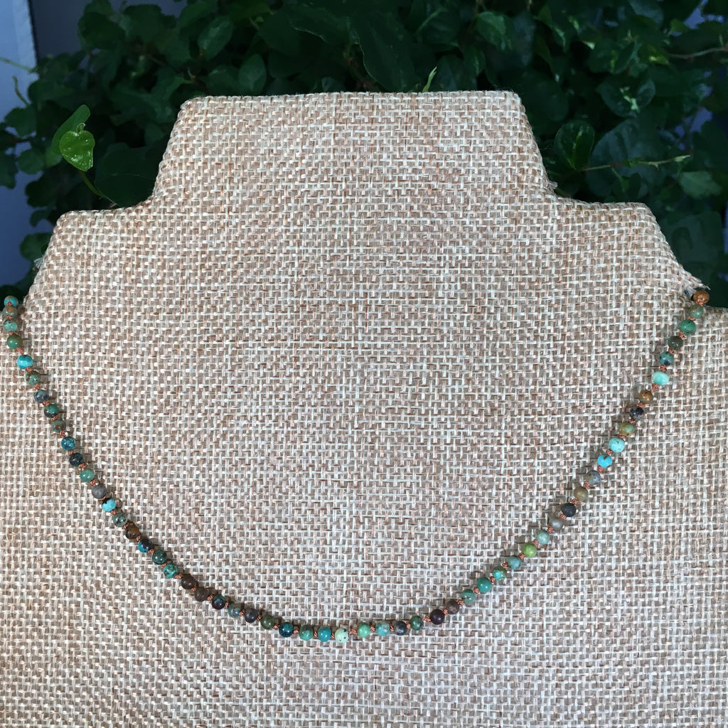 2.5mm Turquoise Knotted Necklace