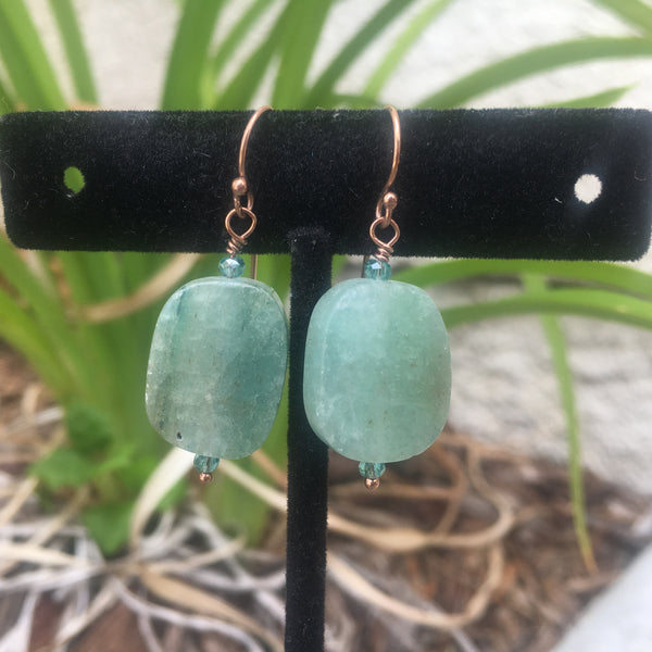 Aquamarine Drop Earrings #1