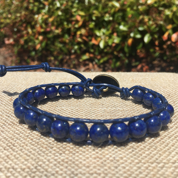 Single Wrap - Unisex/Men's - Blue Lapis