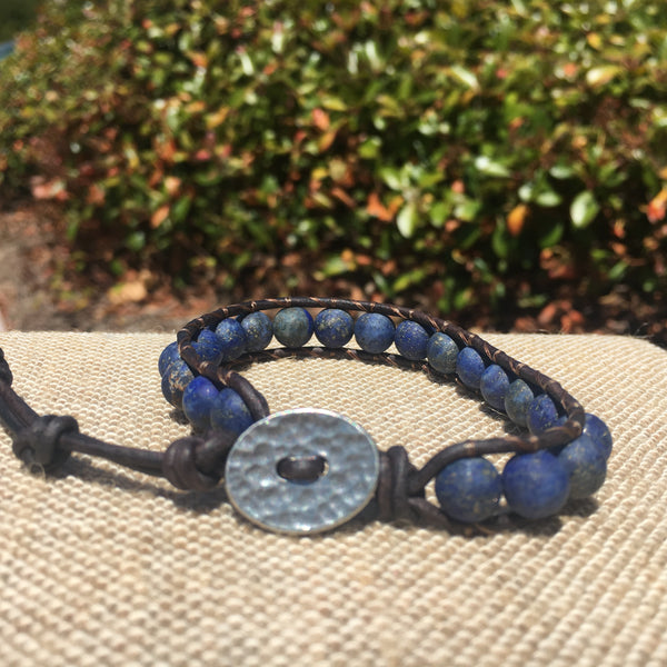 Single Wrap - Unisex/Men's - Matte Blue Lapis