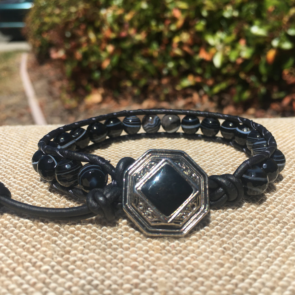 Single Wrap - Unisex/Men's - Zebra Agate