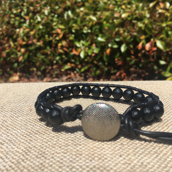 Single Wrap - Unisex/Men's - Matte Black Agate #2