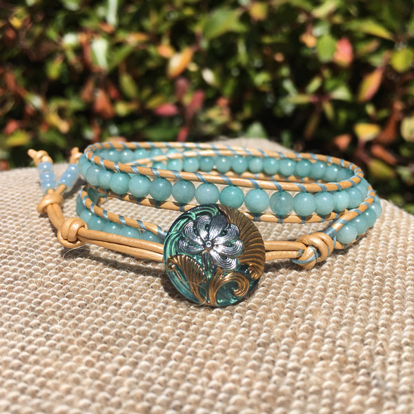 2-Wrap Bracelet - Amazonite version 2