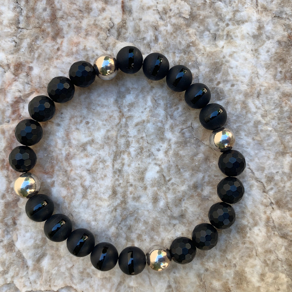 Unisex/Men's - Matte Agate and Onyx