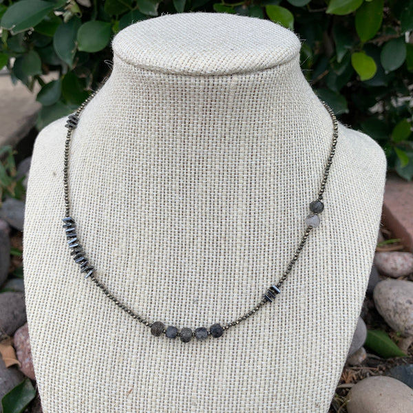 Just a Little Bit Necklace - Tourmalated Quartz